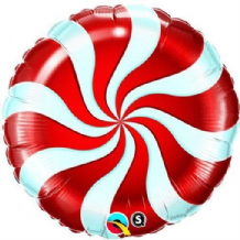 "Christmas Foil Balloon - Candy Cane Red (18"") 1pc"